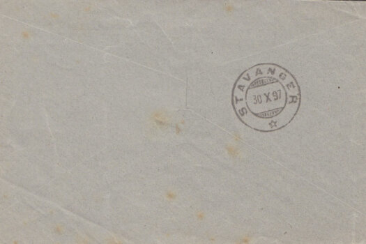 Printed Matter rate to Stavanger, Norway from Barbados (reverse)