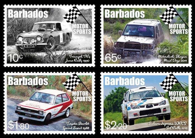Barbados Motor Sports stamps