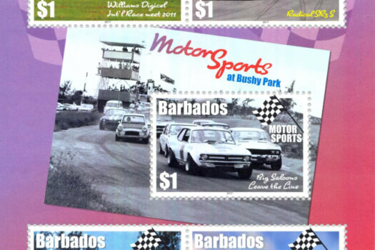 Barbados Motor Sports Souvenir Sheet