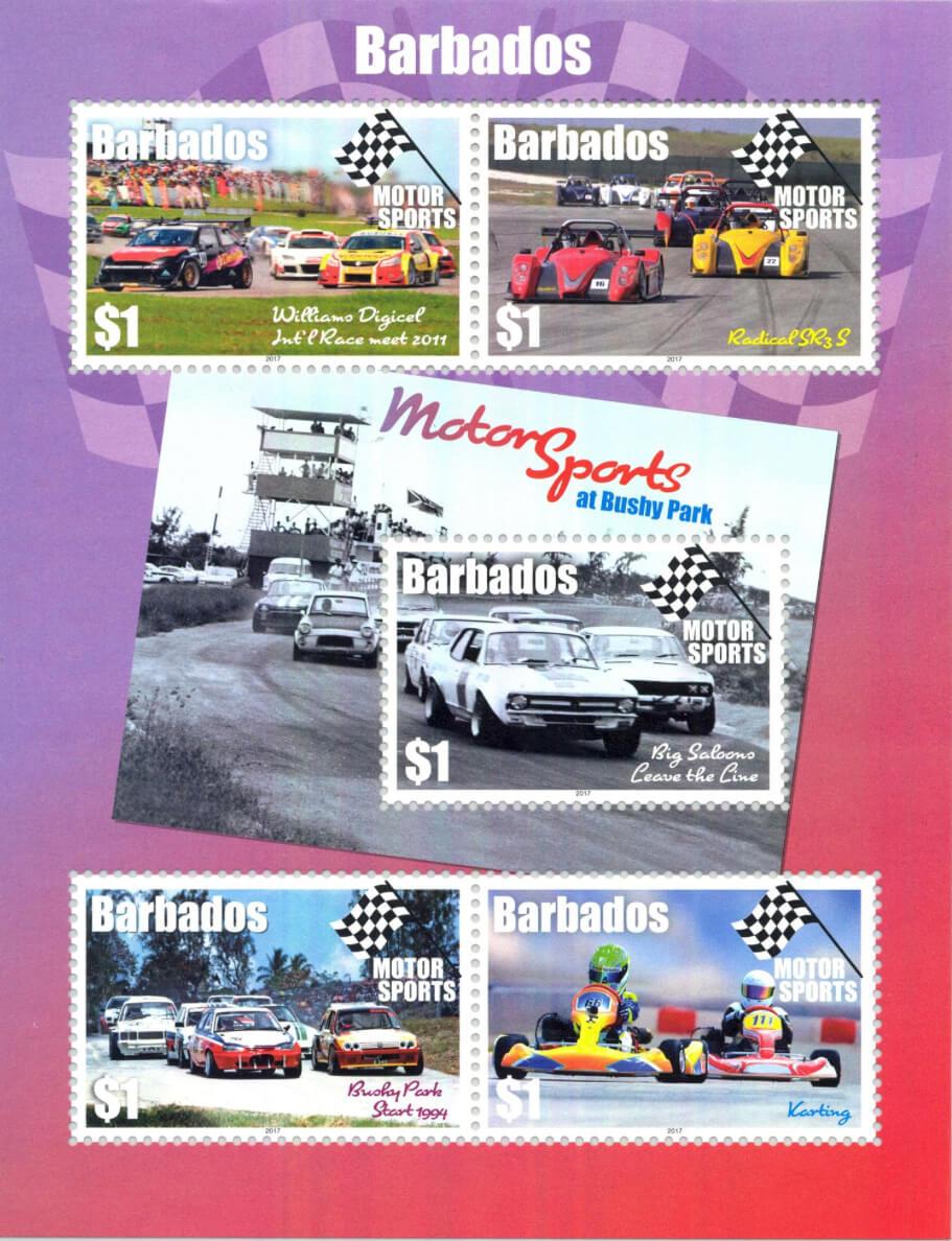 Barbados Motor Sports Souvenir Sheet