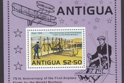 Antigua 75th Anniversary of the first aeroplane