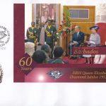 Barbados 2012 HRH Queen Elizabeth II Diamond Jubilee Mini Sheet FDC