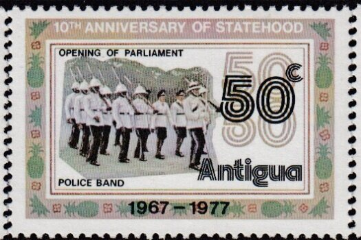 Antigua 25th Anniversary of Statehood stamps