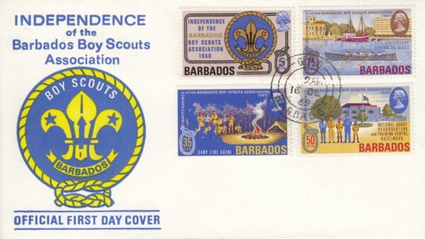Independence of the Barbados Boy Scouts Association 1969 FDC