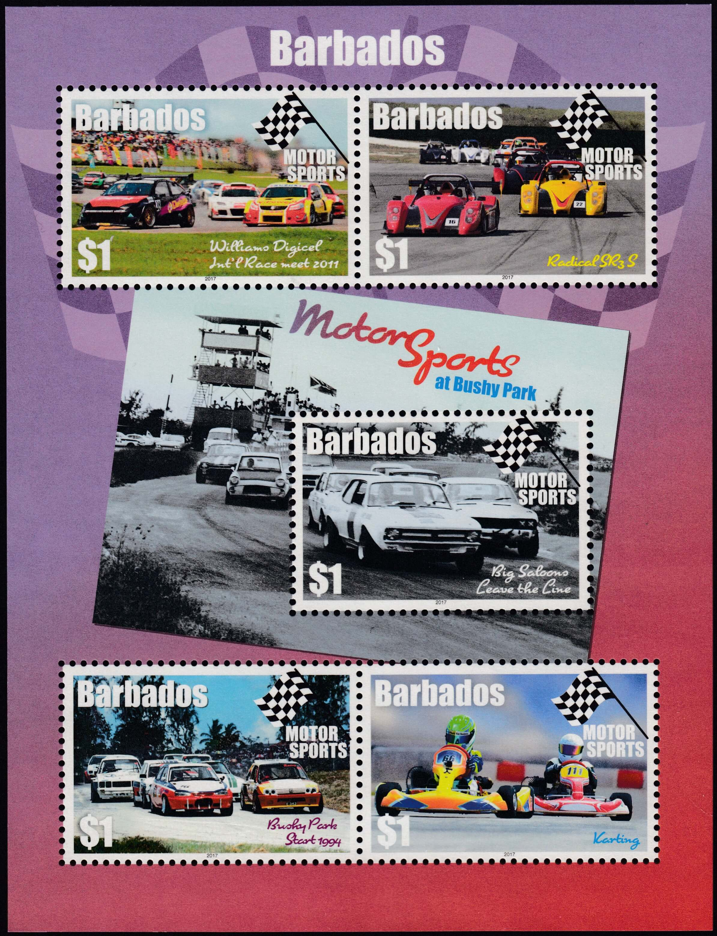 Barbados Motor Sport Mini Sheet - Bushey Park Barbados
