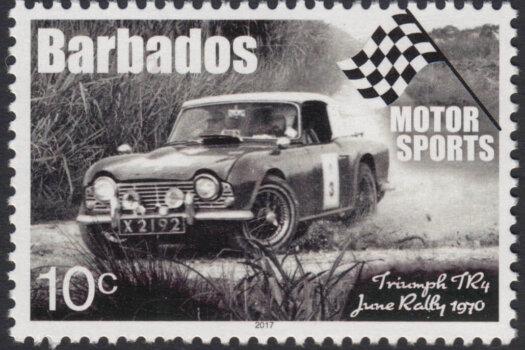 Barbados Motor Sports - 10c stamp