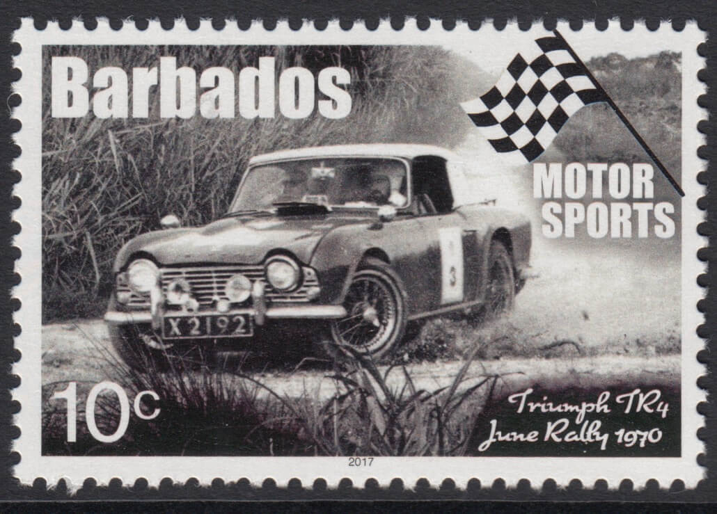 Barbados Motor Sports - 10c Triumph TR4 June Rally 1970