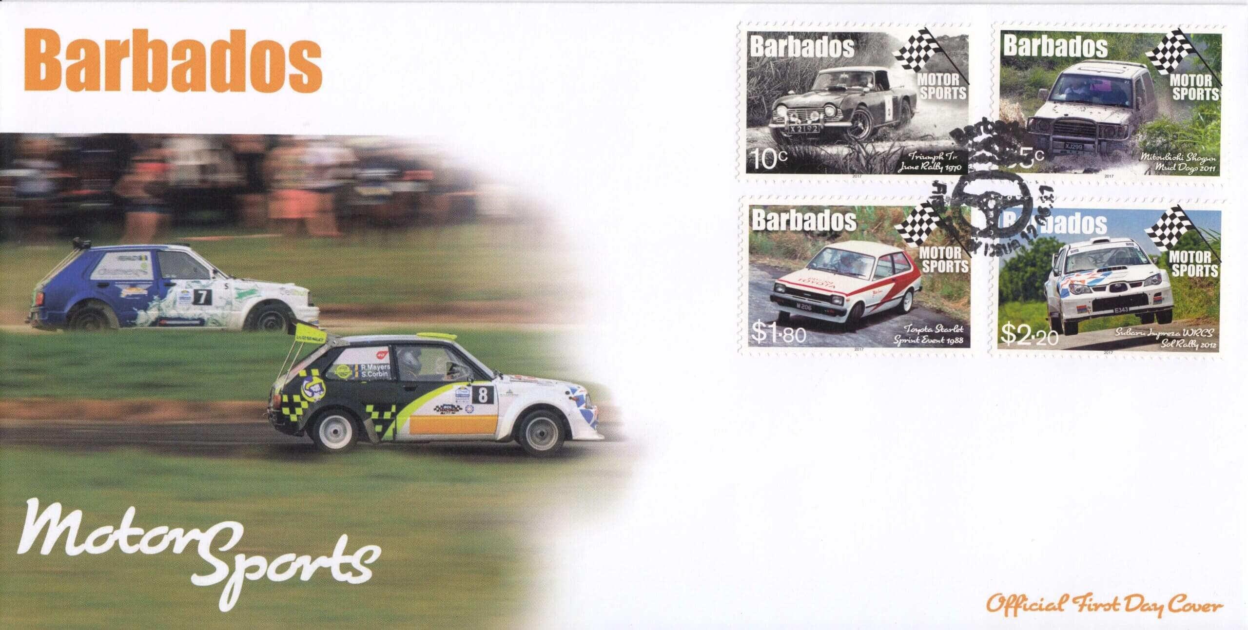 Barbados Motor Sports First Day Cover