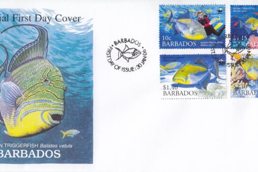 Barbados 2006 Endangered Species Queen Triggerfish FDC