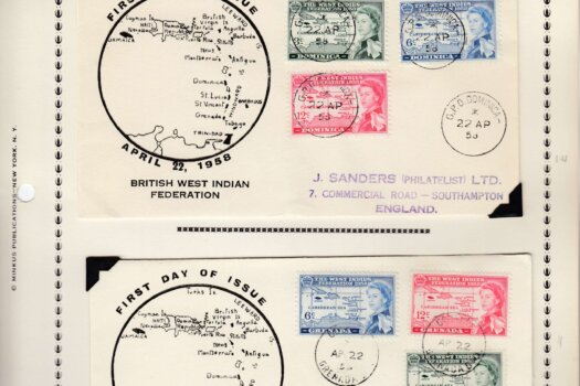 British West Indies Federation First Day Covers - Dominica & Grenada