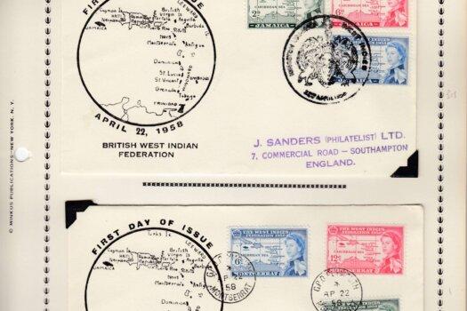 British West Indies Federation First Day Covers - Montserrat & Jamaica