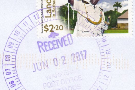 Warrens Barbados Post Office cancel