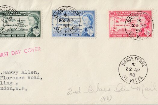 The West Indies Federation 1958 First Day Cover - St Kitts