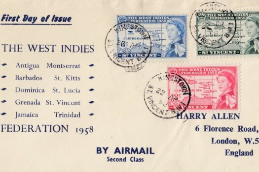 The West Indies Federation 1958 First Day Cover - St Vincent