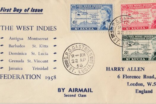 The West Indies Federation 1958 First Day Cover - St Lucia