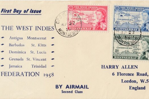 The West Indies Federation 1958 First Day Cover - Montserrat