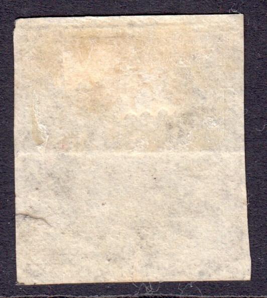 Barbados SG12 | 1/- Brown Black Britannia - reverse