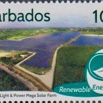 Barbados Renewable Energy - 10c stamp - Barbados Light & Power Mega Solar Farm