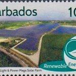 Barbados Renewable Energy - 10c stamp - Barbados Light & Power Mega Solar Farm