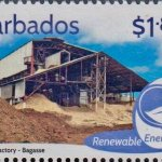 Barbados Renewable Energy - $1.80 stamp - Portvale Factory Bagasse