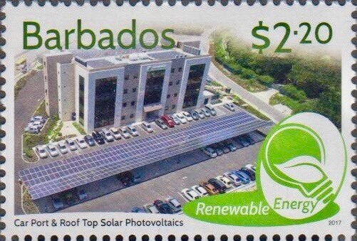 Barbados Renewable Energy - $2.20 stamp - Carport & Roof Top Photovoltaics