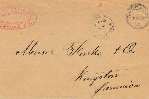 Barbados Crowned Circle Cover 1893