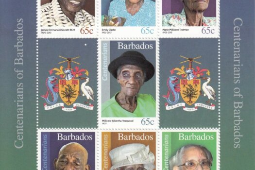 Barbados SGMS1481 - Centenarians mini sheet