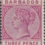 Barbados SG96 3d Reddish Purple