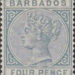 Barbados SG97 4d Grey