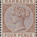 Barbados SG98 4d Pale Brown