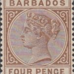 Barbados SG99 4d Deep Brown