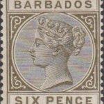 Barbados SG100 6d Olive Black
