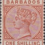 Barbados SG102 1/- Chestnut