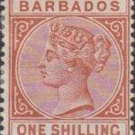 Barbados SG102 1/- Chestnut