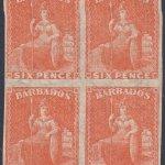 Barbados SG60b block of four