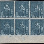 Barbados SG5a block of six