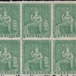 Barbados SG21 block of six