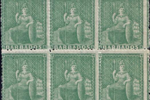Barbados SG21 block of six
