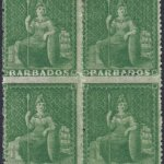 Barbados SG22 block of four