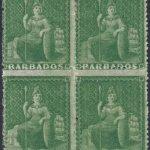 Barbados SG22 block of four