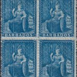 Barbados SG23 block of four