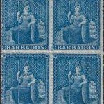 Barbados SG23 block of four