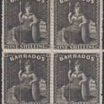 Barbados SG35 block of four
