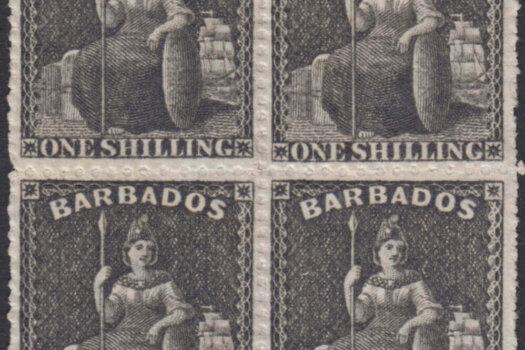 Barbados SG35 block of four