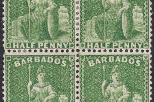 Barbados SG72 block of four
