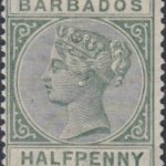 Barbados SG89 Dull Green