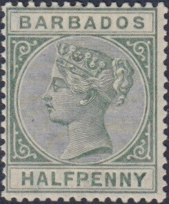 Barbados SG89 Dull Green