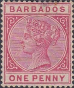 Barbados SG91 Rose