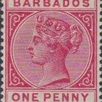 Barbados SG92 Carmine