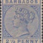 Barbados SG93 Ultramarine